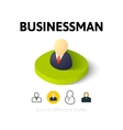 Businessman icon in different style vector image vector image