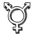 cartoon image of transgender icon gender symbol vector image vector image