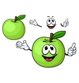 Cartoon juicy green apple fruit character vector image vector image