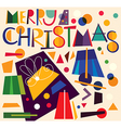 Christmas gift boxes vector image vector image