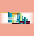 color stripes and lines geometric abstract vector image vector image