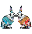 colorful rabbits vector image vector image