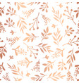 copper foil florals seamless background vector image