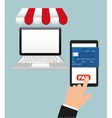 Credit card purchases vector image vector image