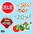 Discount Stickers set vector image vector image