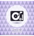 Disk jockey vinyl turntable logo vector image vector image