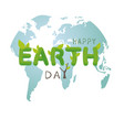 earth day concept design on white background vector image vector image