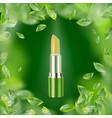 eco green lip balm vector image vector image