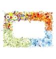 Four seasons frame - spring summer autumn winter vector image vector image