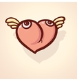 Fulish cartoon heart vector image vector image