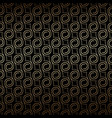 golden art deco seamless pattern with swirls vector image vector image