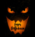grunge halloween background with spooky pumpkin vector image vector image