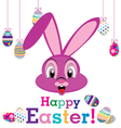 Happy Easter day with animal for egg isolated on vector image vector image