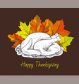 happy thanksgiving day meal poster text vector image vector image