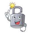 have an idea new metal padlock isolated on mascot vector image