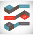 infographic arrows with 3 step up options and vector image vector image