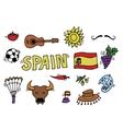 love spain doodles symbols spain vector image