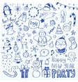 Mega Doodle Design Elements Set vector image vector image