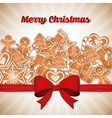Merry christmas colorful card graphic vector image vector image