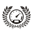 monochrome speedometer award between olive branch vector image vector image