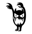 monster icon simple black style vector image vector image
