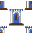 moroccan architecture and wall ornament door or vector image