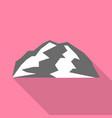 mountain climb icon flat style vector image