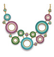 necklace with beaded rings vector image vector image