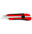 paper cutting knife vector image vector image