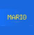 pixel alphabet retro 8-bit font type for retro vector image vector image
