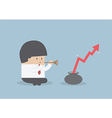 PrintBusinessman playing pipe to mBusinessman pla vector image