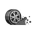 rally sport car wheel tire vector image
