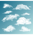 realistic clouds set isolated cloud vector image vector image