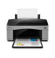 realistic printer on white background for design vector image vector image