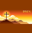 Risen easter greeting card with