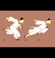 Samurai running vector image vector image