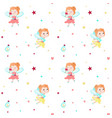seamless pattern with cute little fairies vector image vector image