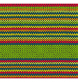 Seamless Red Green Yellow Color Knitted Pattern vector image vector image