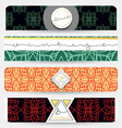 Set of 4 banners with geometric patternsBusinnes vector image vector image