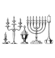 set of candlesticks vector image vector image