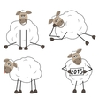 Set of funny sheep vector image vector image