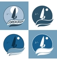 set of windsurfing vector image