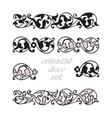 Set oriental decorative elements Zentangle black vector image