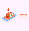 shop building sale background vector image vector image
