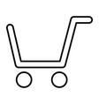 shopping cart thin line icon market cart vector image