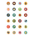 Shopping Flat Colored Icons 2 vector image vector image