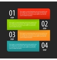 Simple modern infographics options banner box vector image vector image
