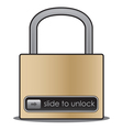 Slide to unlock vector image vector image