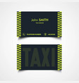 taxi driver card template vector image vector image