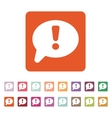 The exclamation mark icon Attention speech bubble vector image vector image
